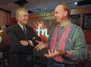1995 Lou Dobbs at launch of CNNfn SABEW