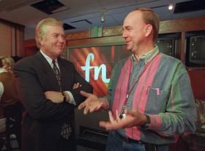 1995 Lou Dobbs at launch of CNNfn SABEW
