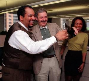 1999 Angelo Henderson (left) Pulitzer SABEW